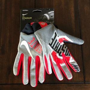 NWT Nike OHIO STATE BUCKEYES STADIUM Gloves L OSU